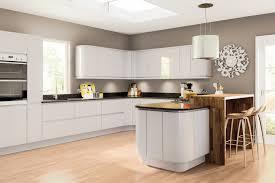 high gloss paint for kitchen cabinets modern handleless light grey high gloss painted kitchen