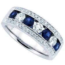 sapphire and wedding band ct blue sapphire wedding band ring