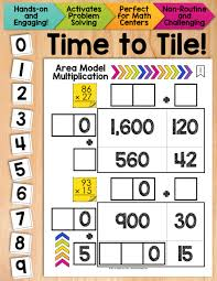 time to tile area model multiplication hands on tactile