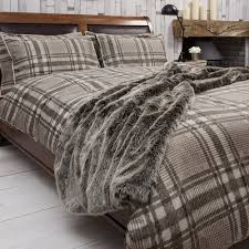 kilburn and scott harris natural rustic check duvet set kilburn