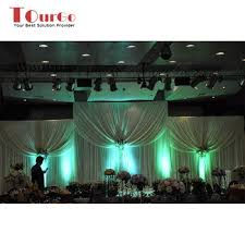 tourgo sale led drape fabric curtain stage light for wedding