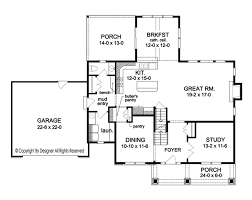 colonial style house plan 4 beds 2 5 baths 2690 sq ft plan 1010 floor plan main floor plan