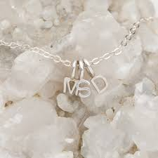 initials necklace my tribe initials necklace sterling silver by leonard designs