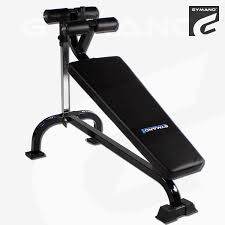 gymano pro decline crunch bench adjustable sit up abs core