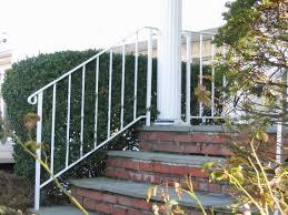 decor white pillars design ideas with wrought iron railing also