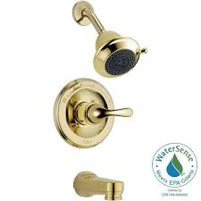 Home Depot Brass Bathroom Faucets Delta Classic Single Handle 3 Spray Tub And Shower Faucet In