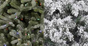 flocked vs frosted trees northpoledecor