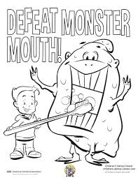dental coloring pages perfect dental health month coloring pages