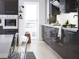 Modern Gray Kitchen Cabinets by Kitchen Gray Contemporary Glossy Sleek Line Kitchen Cabinet Nice