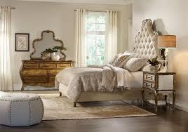 hooker furniture bedroom sanctuary king tufted bed bling 3016 90865