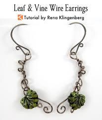 wire earrings leaf vine wire earrings tutorial jewelry journal