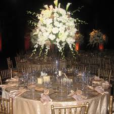 White Roses Centerpieces by Daniel Events Created Massive Centerpieces With All White Roses