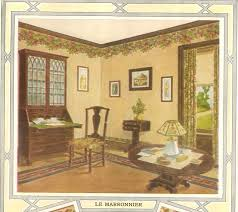 wallpapered room from 1914 wallpaper catalog wallpaper is