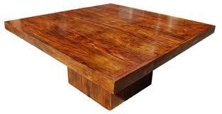 solid wood pedestal kitchen table 20 surprising square wooden pedestal table bases home design lover