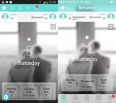 chat between iphone and android between is a digital space just for two with chat calendar