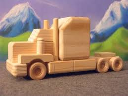wooden toys tandem axle classic tractor