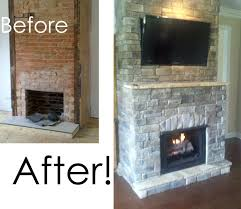 diy fireplace remodel ideas before and after renovation images