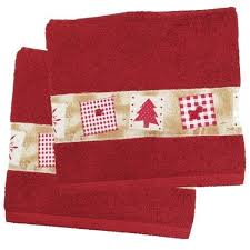 christmas towels christmas tree bath towel set of 2 bedding bath