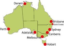 major cities of australia map major cities in australia map major tourist attractions