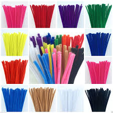 chenille colouful craft pipe cleaners 6mm x 300mm available in 12