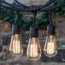 Commercial Outdoor String Lights Brightech Ambience Pro Vintage Outdoor String Lights 48 Ft
