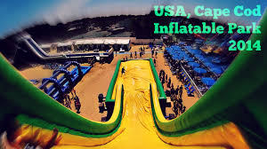 cape cod inflatable park 2014 youtube