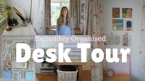 desk tour organisation inspiration muji storage youtube