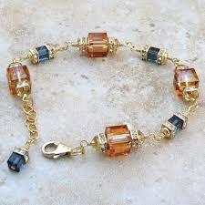 gold amber bracelet images Amber crystal bracelet gold filled copper and sapphire blue jpg