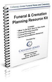 funeral planning checklist free funeral pre planning guide callaway jones funeral