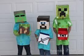 Minecraft Creeper Halloween Costume Keeping Simple Diy Minecraft Creeper Steve Zombie Costume