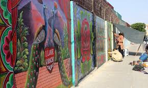 in karachi when hate on the wall disappears pakistan dawn com the famous truck artists of karachi painting the walls at mt khan road karachi