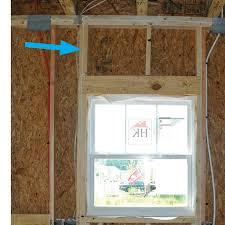 framing a window advanced framing minimal framing at doors and windows building