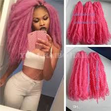can you dye marley hair 2018 wholesale price 20in folded baby pink color synthetic marley