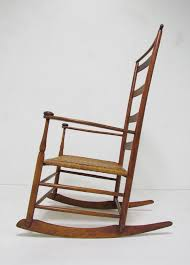 Knoll Rocking Chair Antique Shaker No 7 Rocking Chair With Shawl Bar At 1stdibs