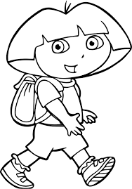 dora coloring book pages walking dora coloring page wecoloringpage