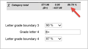 moodle in english rounding up and gradebook boundaries