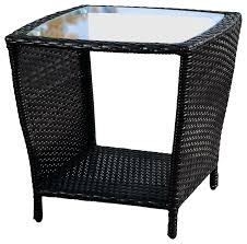 Wicker Side Table Easton Outdoor Wicker Accent Table Contemporary Outdoor Side