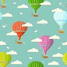 palloncini clipart retro reticolo di viaggio senza soluzione di continuit罌 di