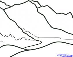 simple landscape drawing for kids how to draw mountains for kids