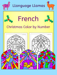french christmas noel color number llanguage llamas tpt