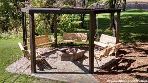 Swing Pergola by Porch Swings Fire Pit Circle Porch Swings Patio Swings