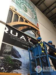 large wall mural in spokane warehouse quality custom the large wall mural was designed printed and installed by signs for success vinyl