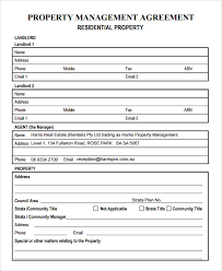 Property Management Excel Template Property Management Agreement 8 Free Documents In Pdf