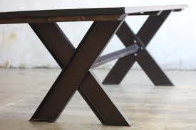 steel and wood table trestle tables for your interior