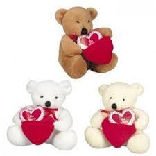valentines bears dozen plush bears with pocket be mine hearts