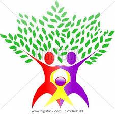 family tree illustration abstract vector photo bigstock