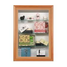 designer shelves swingframe designer wood wall mounted display case with shelves 3