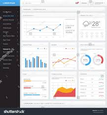dashboard admin panel template design 960 grid system vector