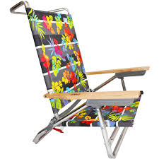 Rio Sand Chairs Rio 5 Position Layflat Beach Chair Hibiscus Twist By Rio Low