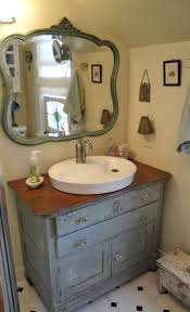 Brushed Nickel Mirror Bathroom by Classic Antique Bathroom Vanity With Vessel Sink And Decorative